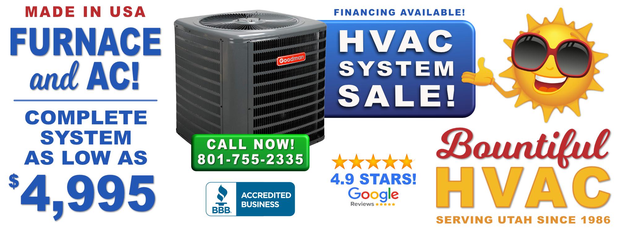 Bountiful HVAC System Sale