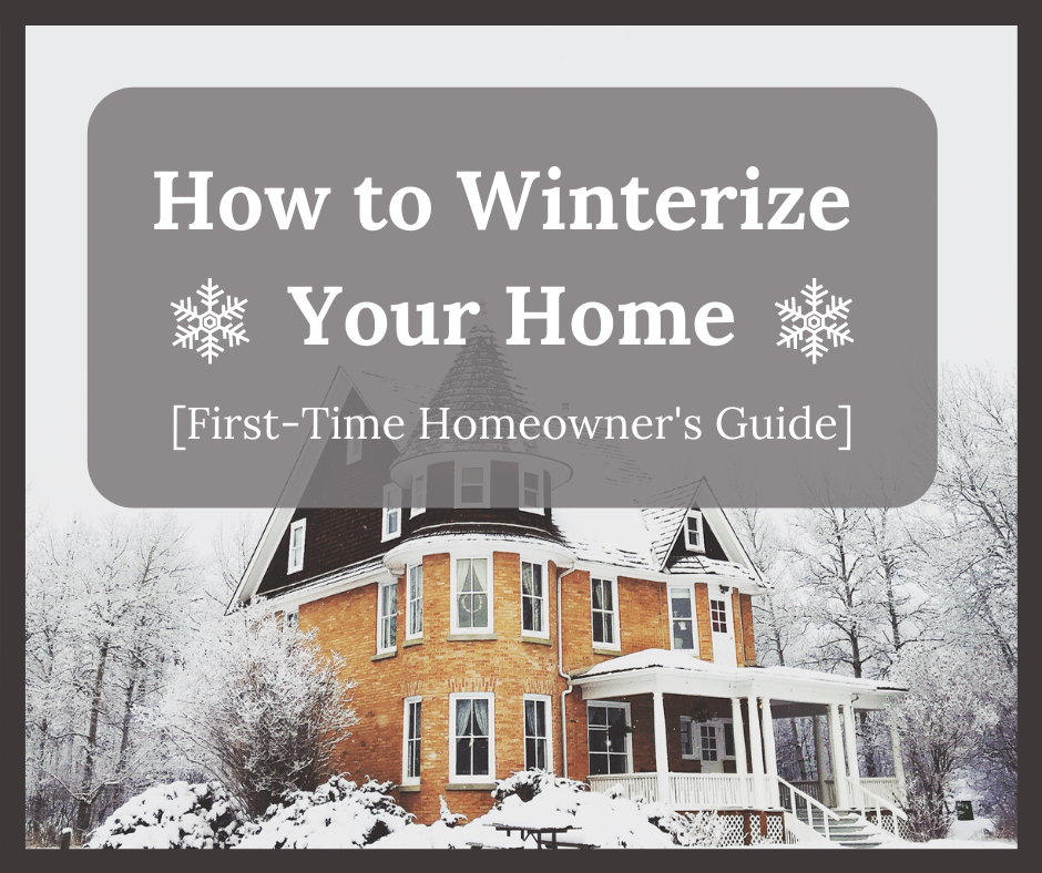 A classic home in winter. Winterizing your home can prevent many problems later.