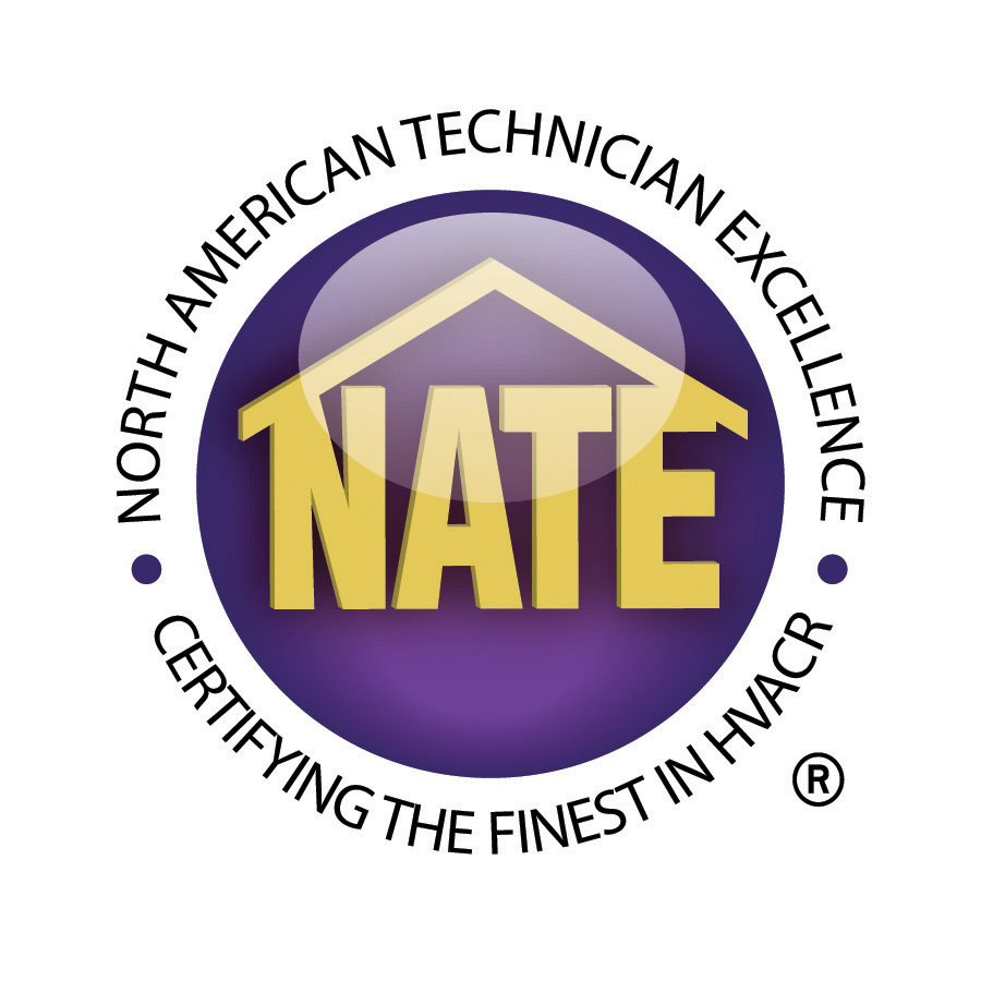 Our heating and cooling tech's are NATE certified!